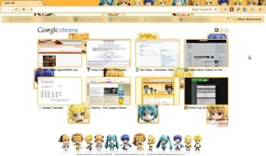 Google Chrome with Nendoroid theme