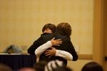 Tohru Furuya hugs a fan