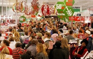 Holiday shopping crowds