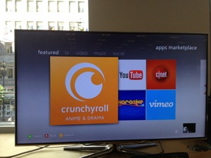 Crunchyroll app on Xbox
